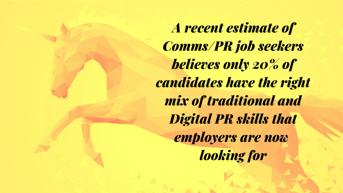 Digital PR skills are in high demand